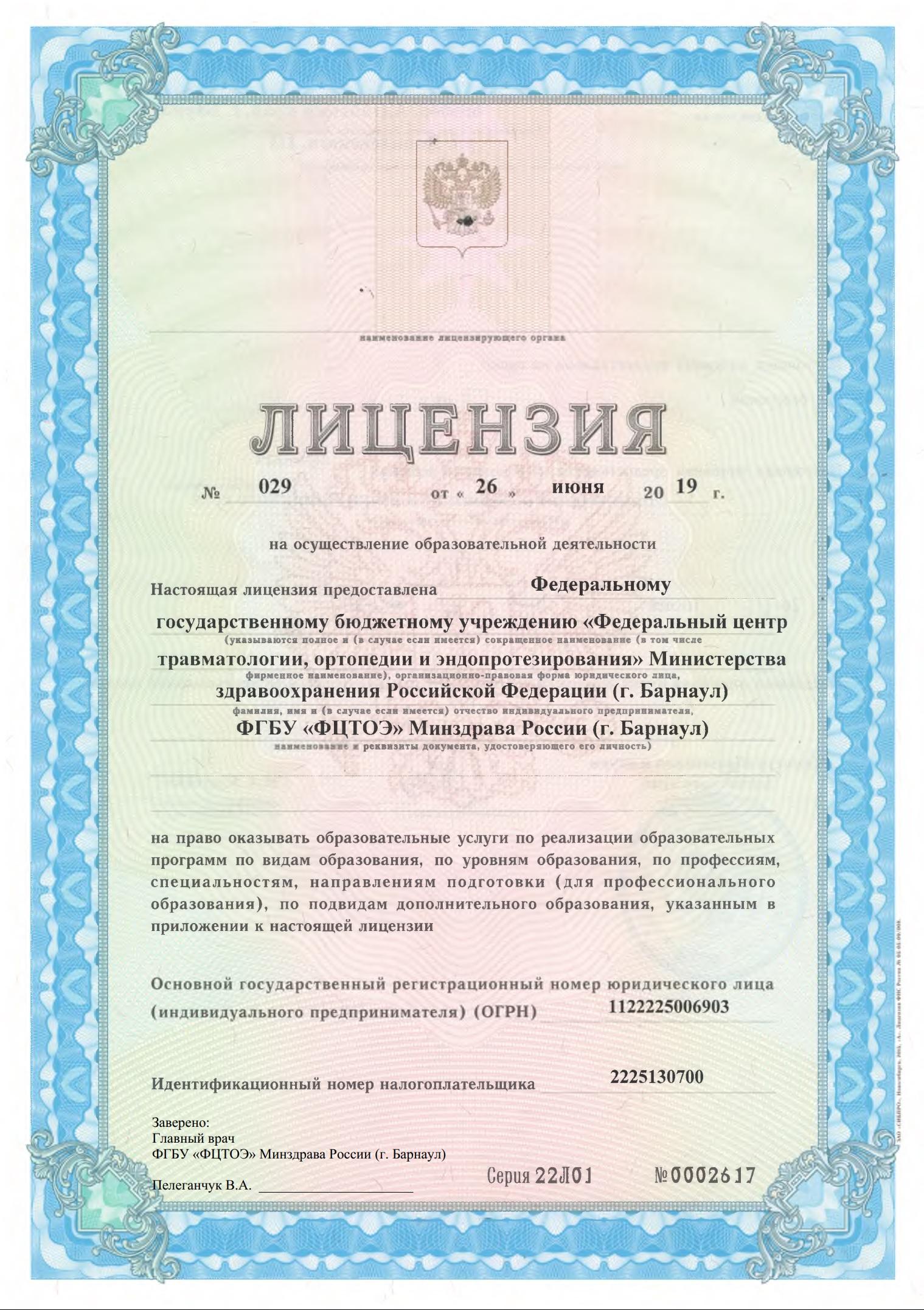 Лицензия ДПО